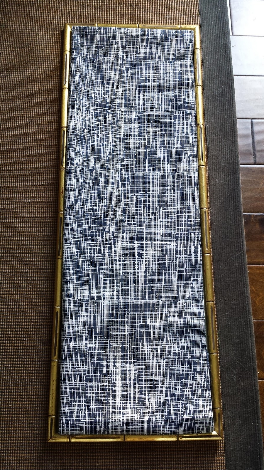 Focal Point Styling: Diy Indigo Wall Art With Framed Fabric With Regard To Best And Newest Diy Fabric Panel Wall Art (View 5 of 15)
