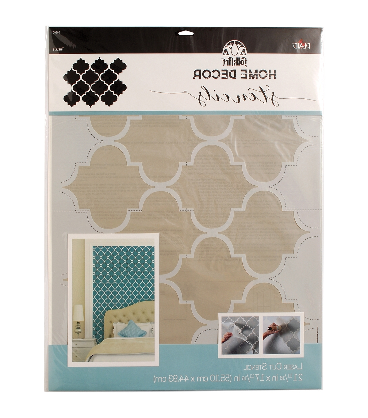Folkart Home Decor Wall Stencil Trellis (View 2 of 15)