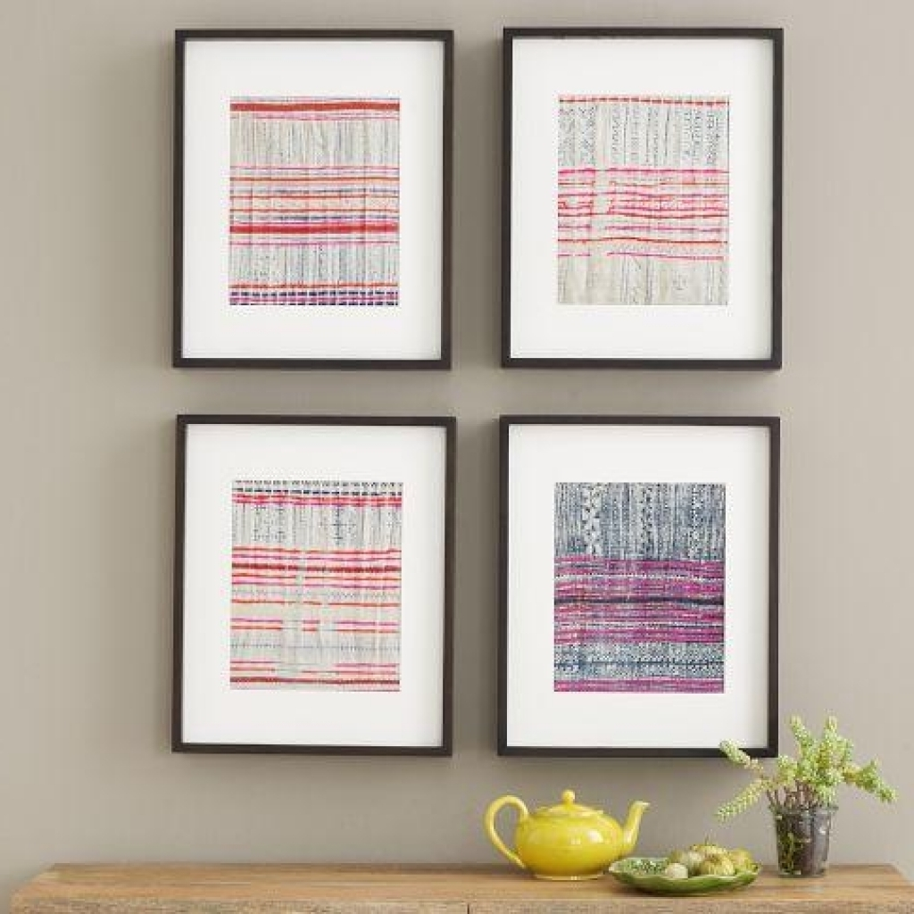 Frame Fabric Wall Art Thai Fabric Wall Art West Elm Best Model For Most Recently Released Thai Fabric Wall Art (View 6 of 15)