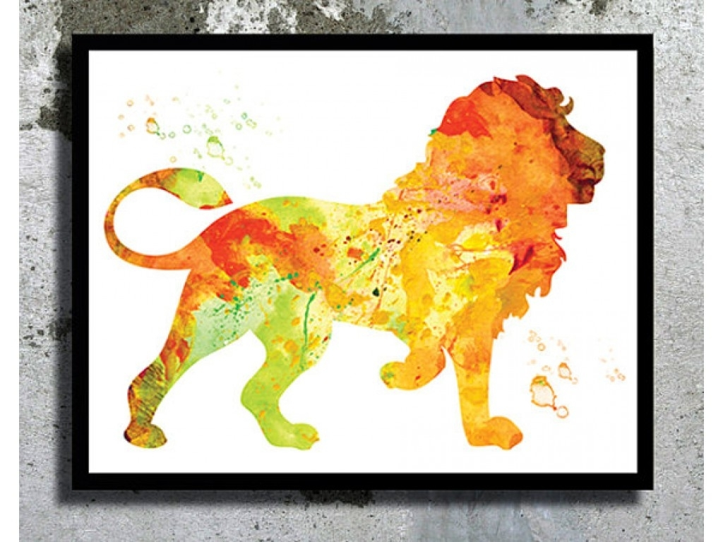 Framed Animal Art Prints Within Most Recent Watercolor Art Print Watercolor Painting Home Decor Animal (View 11 of 15)