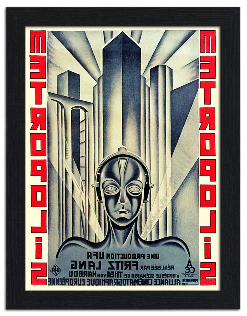Framed Art Deco Prints For Well Liked Ap Frame 1276 – Metropolis, Art Deco Sci Fi Movie Poster, 1920S (Gallery 1 of 15)