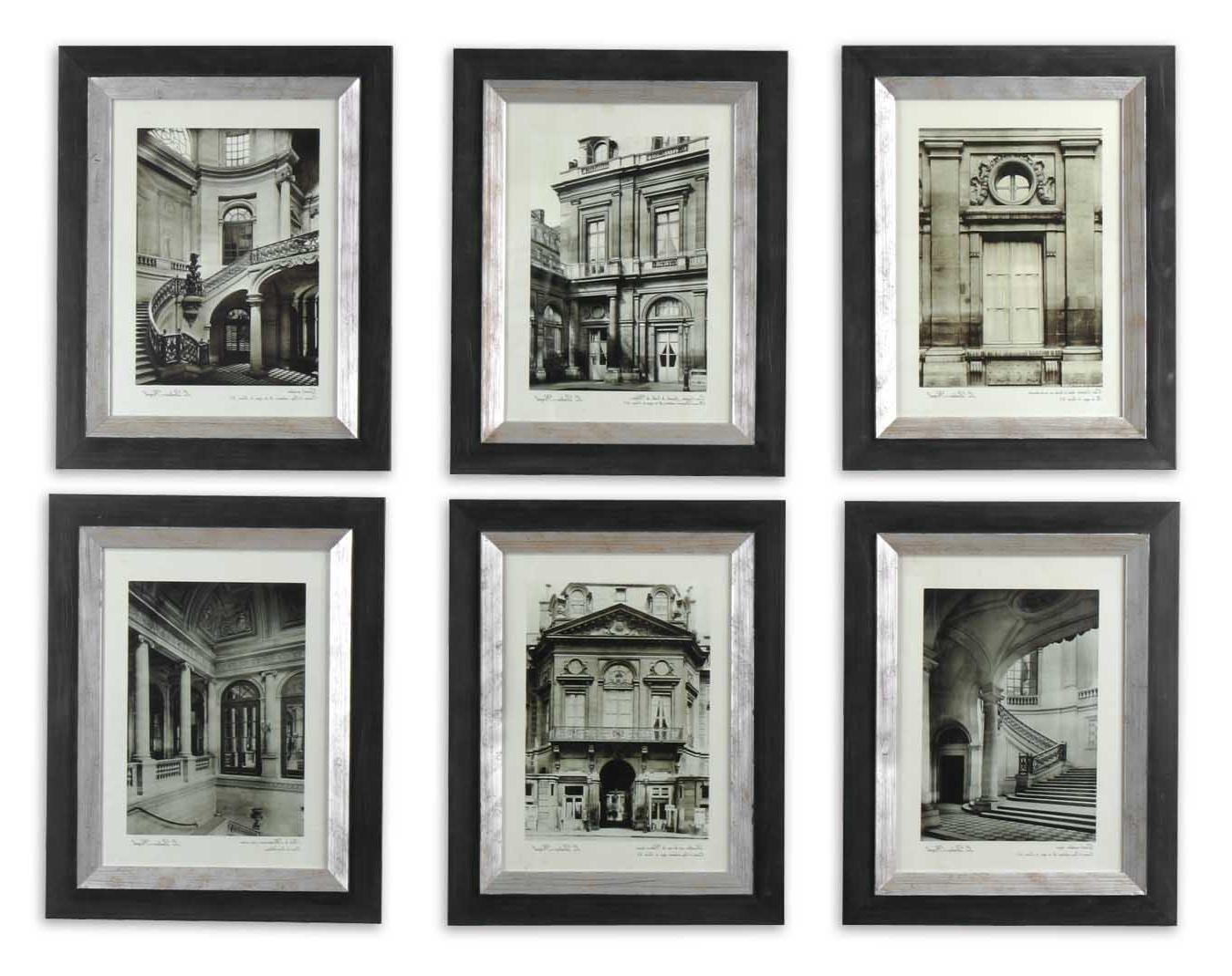 Framed Art Prints Sets For Famous Uttermost Paris Scene Framed Art Set/6  (View 7 of 15)