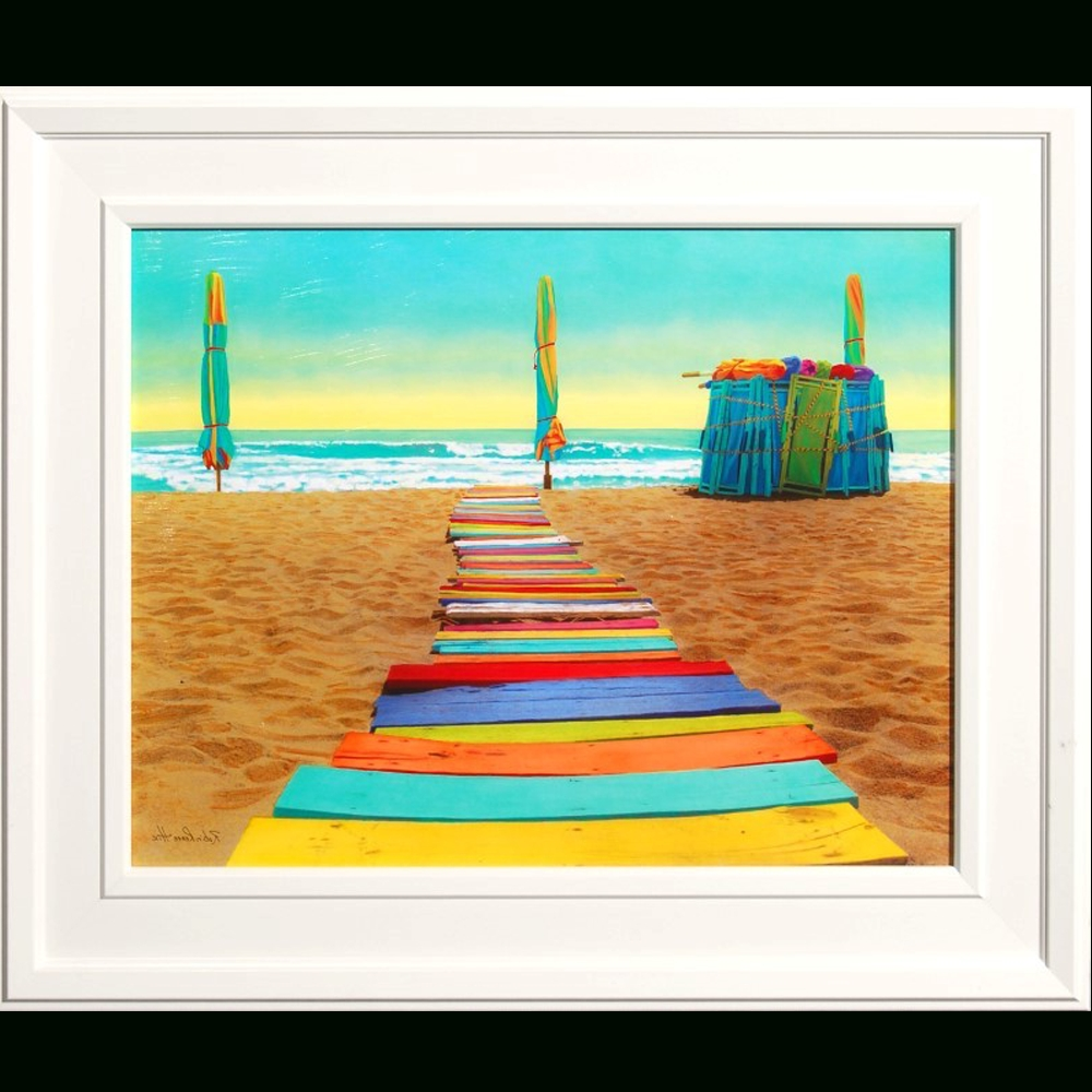Framed Beach Art Prints Inside Most Current Colorful Beach Walkway Framed Art Print – Island Art Stone Harbor (View 5 of 15)