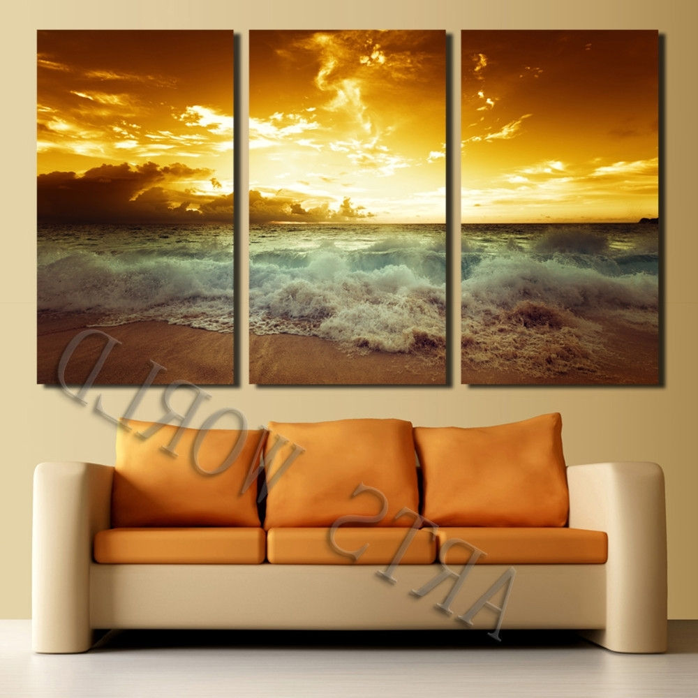 Framed Beach Art Prints Throughout Newest Not Framed Canvas Print Home Decoration Modern Bedroom Wall Art (View 7 of 15)