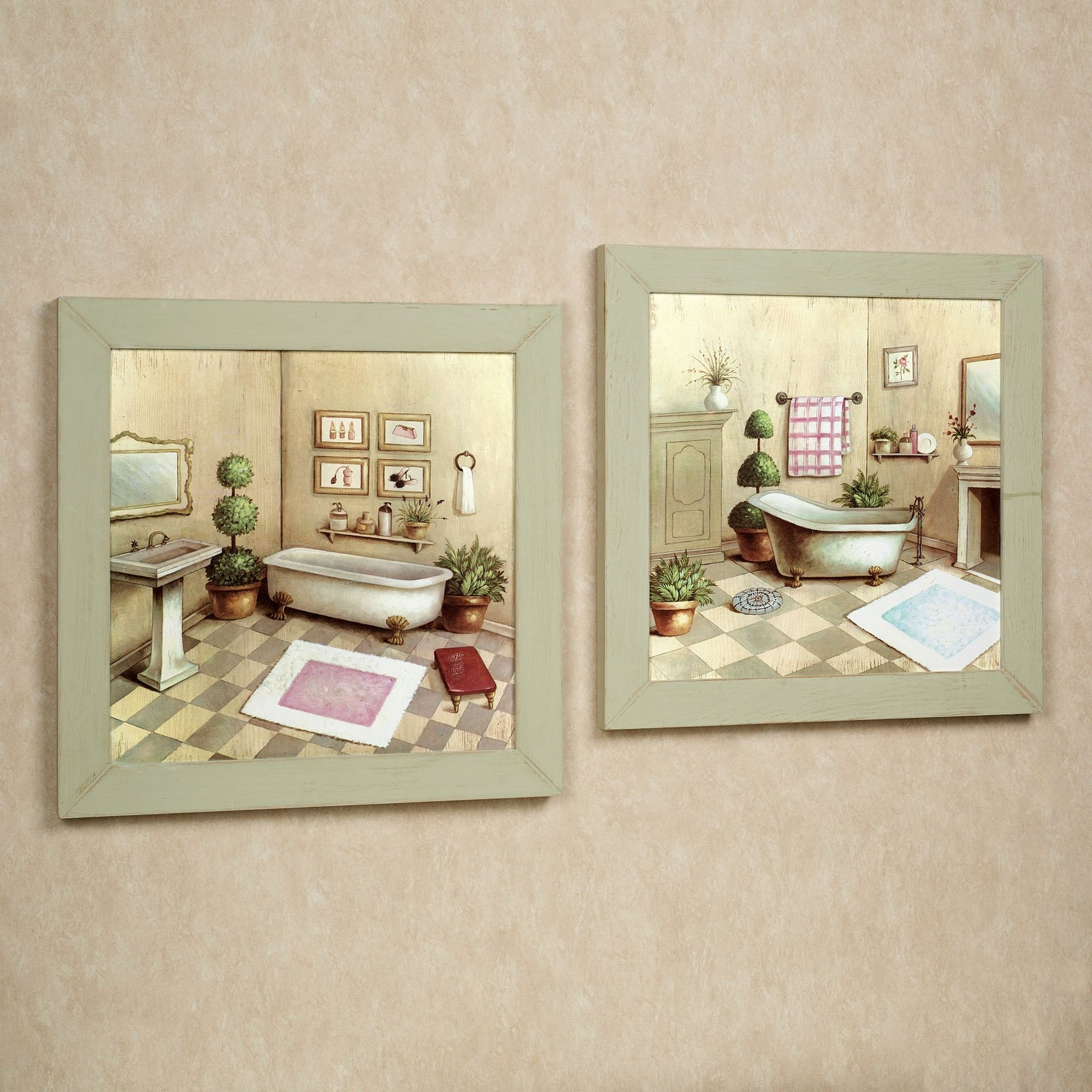 Framed Classic Art Prints Pertaining To Most Current Wall Art: Simple Decoration Framed Bathroom Wall Art Bathroom (Gallery 15 of 15)