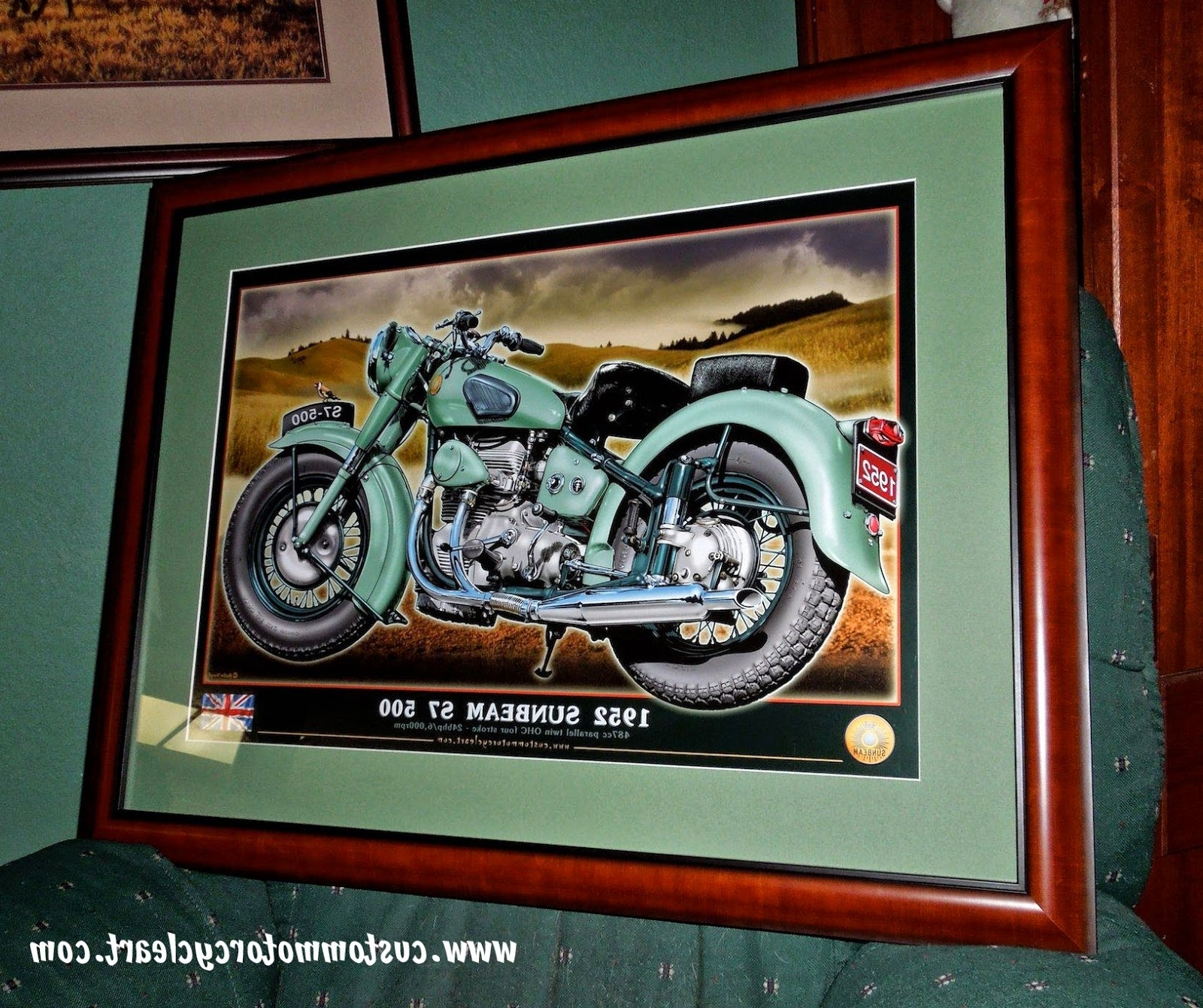Framed Classic Art Prints With Regard To Most Recent Www.custommotorcycleart: Motorcycle Art Print Framed. (Gallery 12 of 15)