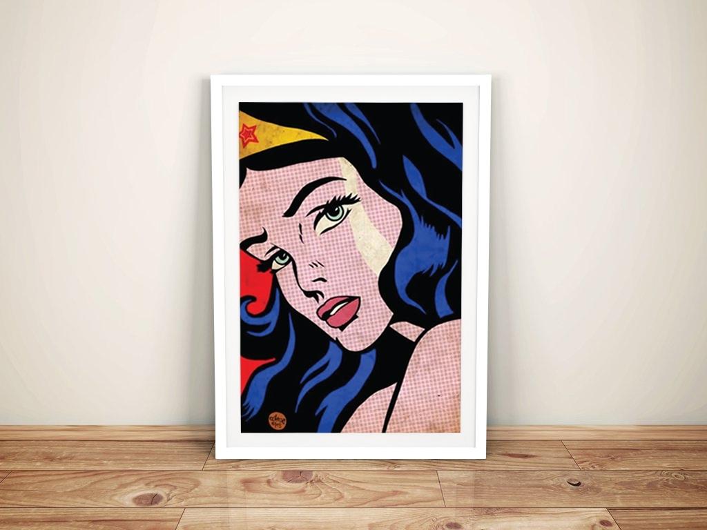 Framed Comic Art Prints Throughout Most Popular Wonder Woman Comic Book Art Roy Lichtenstein Pop Art (View 5 of 15)