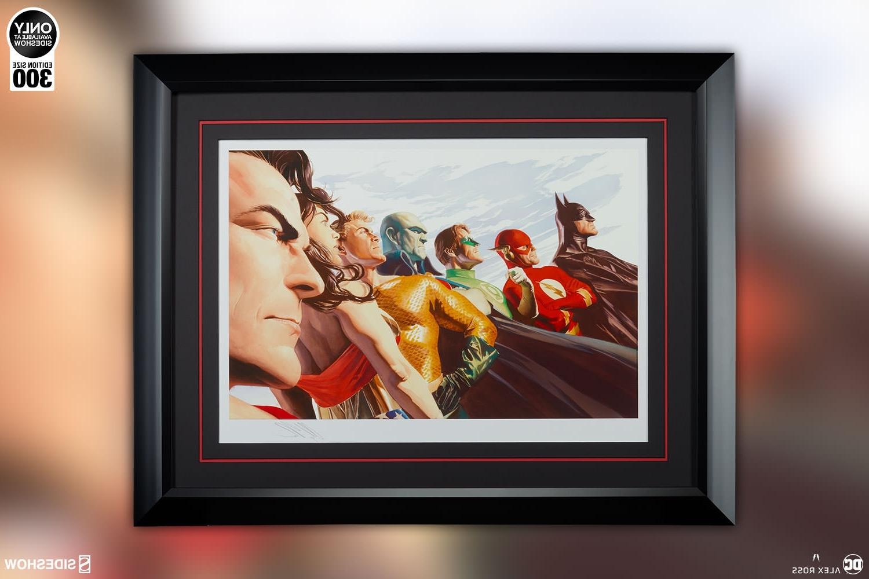 Framed Comic Art Prints With Most Popular Dc Comics Liberty And Justice Jla Art Printalex Ross Art (View 7 of 15)