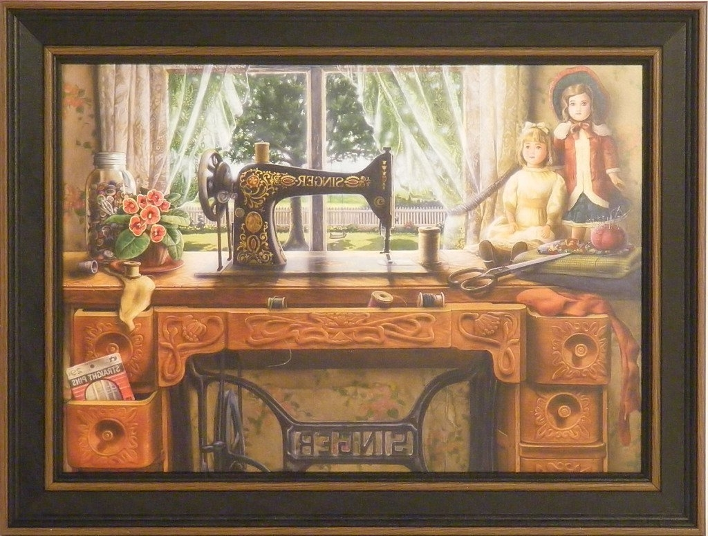 Framed Country Art Prints Throughout Most Popular Amazon: The Sewing Roomdoug Knutson 12X16 Antique Singer (Gallery 6 of 15)