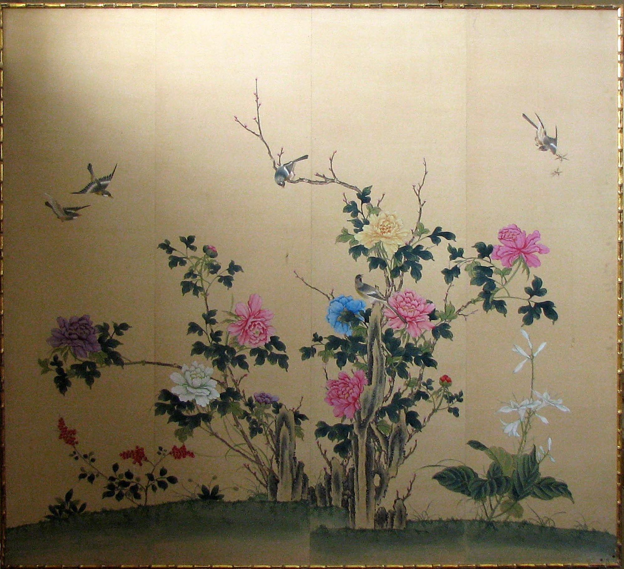 Framed Japanese Silk Print :: For The For Latest Flowers Framed Art Prints (View 13 of 15)