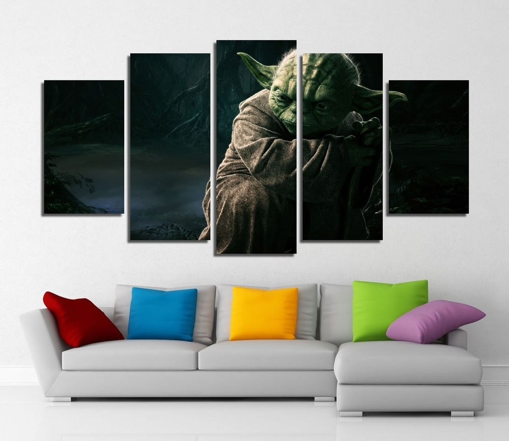 Framed Wall Canvas Art – Star Wars Yoda Jedi Master Canvas Prints Intended For Current Framed Canvas Art Prints (Gallery 8 of 15)