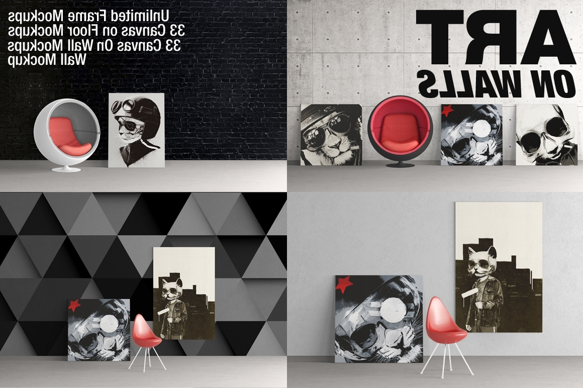 Frames Canvas Wall Mockups On Behance With Most Recently Released Mockup Canvas Wall Art (Gallery 7 of 15)