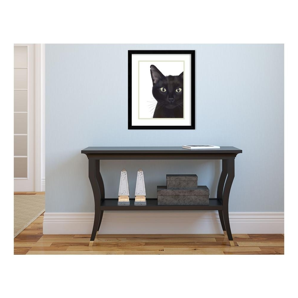 """Funky Art Framed Prints Intended For Trendy Amanti Art 19 In. H X 16 In. W """"cat, Portrait Of Gus"""" By"""" Fab (Gallery 12 of 15)"""