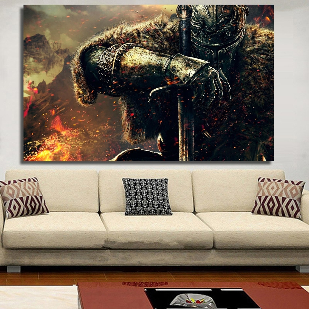 Gaming Canvas Wall Art In Best And Newest Chenfart Poster On The Wall War Gaming Canvas Oil Painting For (View 4 of 15)