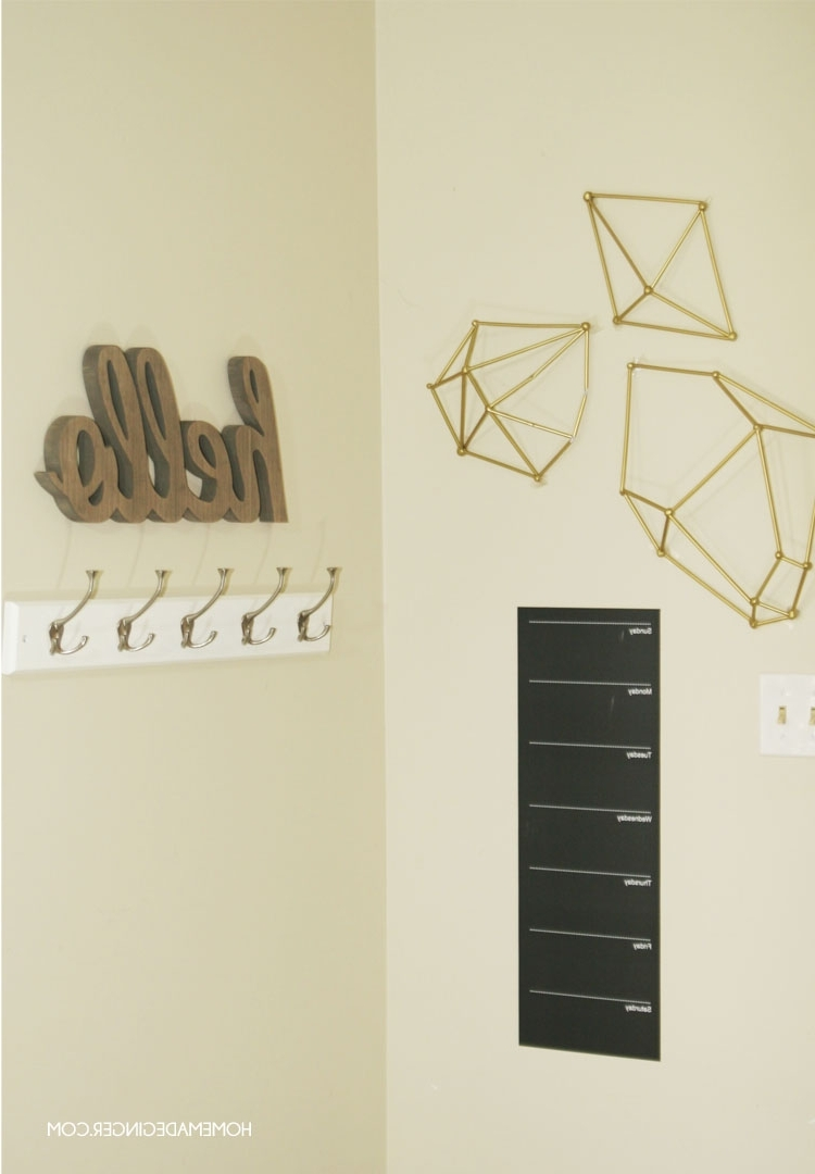 Geometric Shapes Wall Accents Pertaining To Best And Newest Diy Wall Art : Geometric Straw Shapes – Homemade Ginger (View 4 of 15)