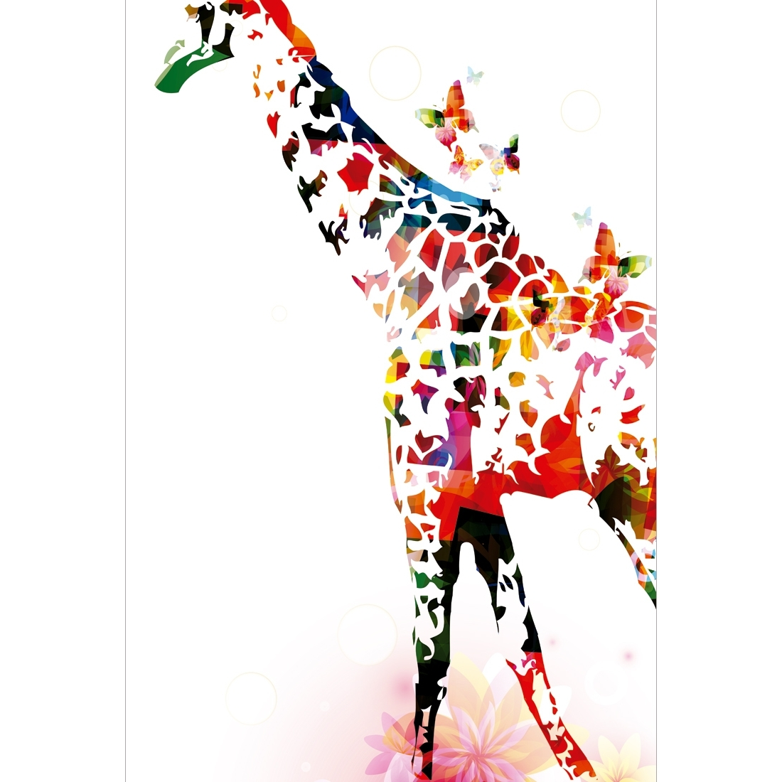 Giraffe Canvas Wall Art Intended For Newest Rainbow Giraffe – Canvas Print – Wall Art – Australia (View 4 of 15)