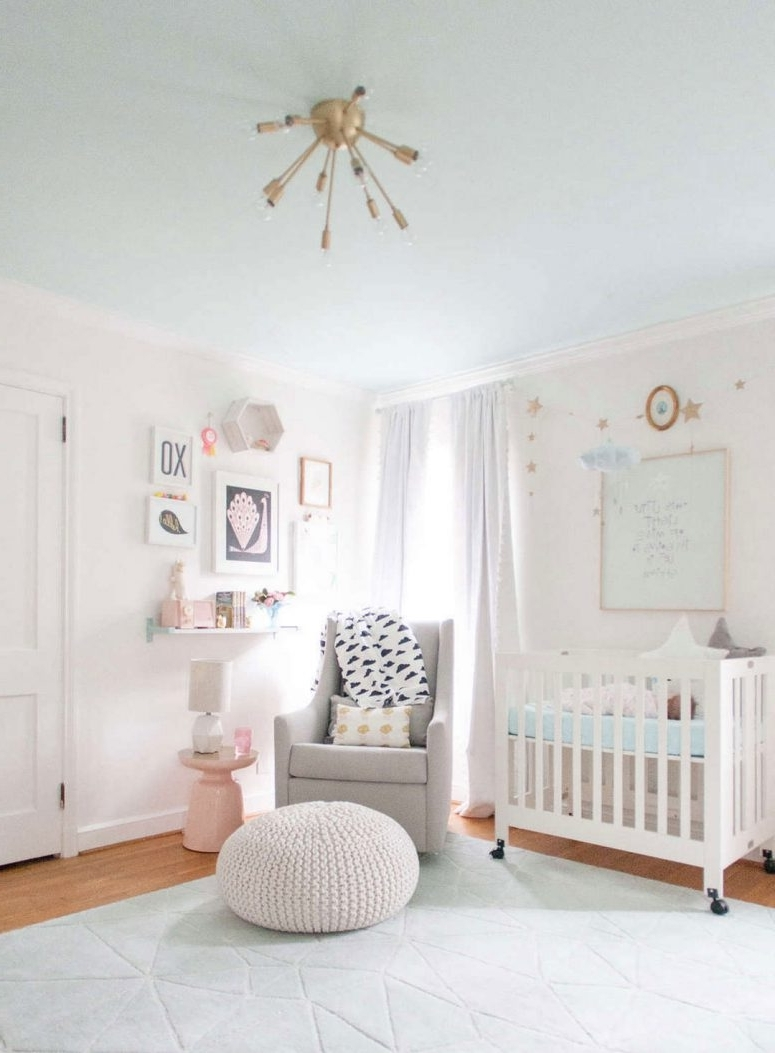 Girl Nursery Wall Accents In 2018 √ 33 Most Adorable Nursery Ideas For Your Baby Girl (Gallery 9 of 15)
