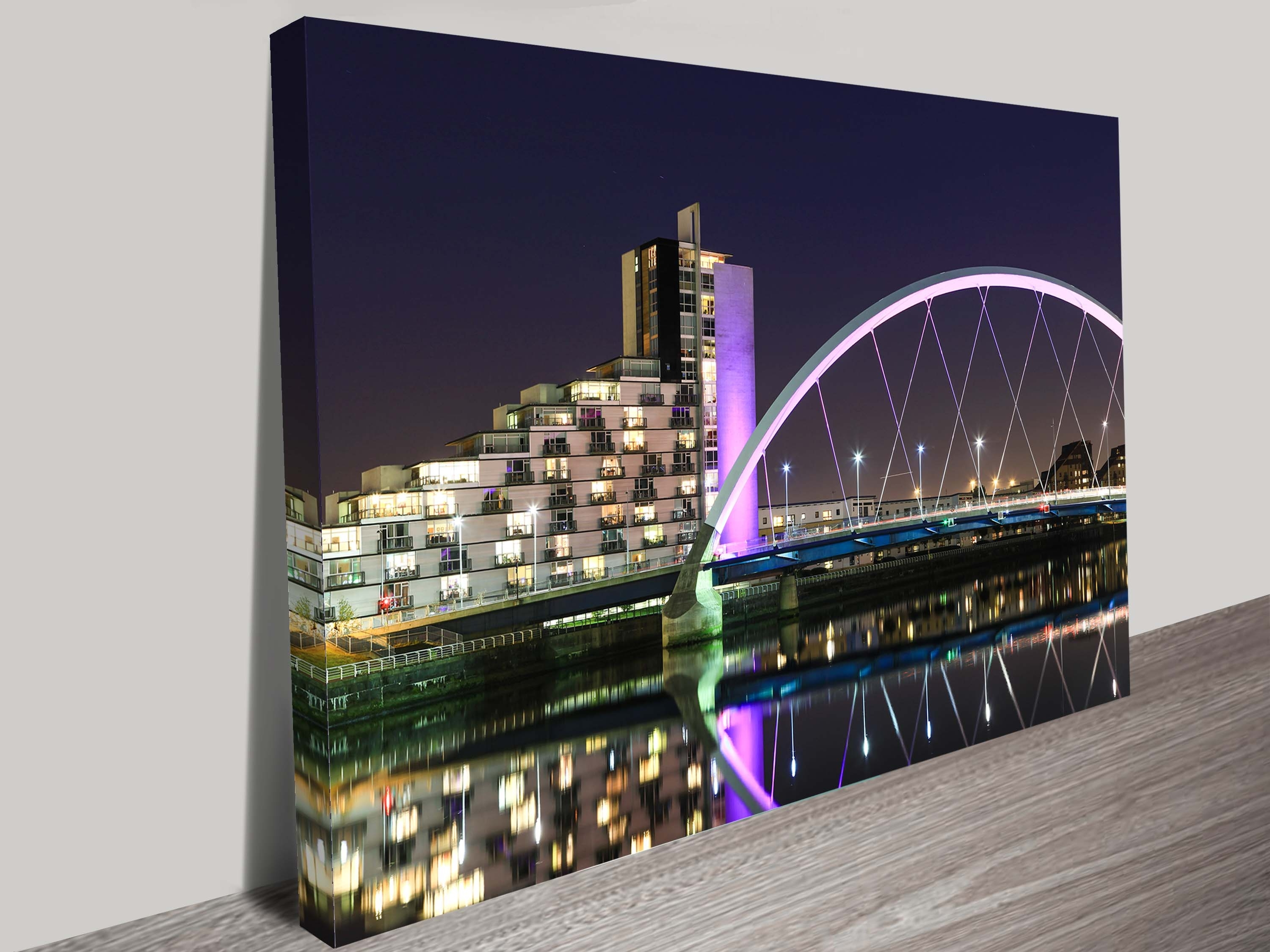 Glasgow Canvas Wall Art With Regard To Newest Night Canvas Art Print (View 4 of 15)