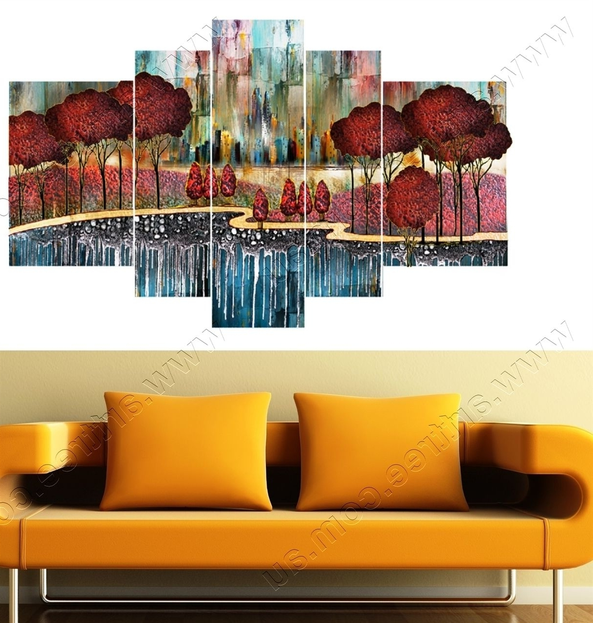 Gold Coast Canvas Wall Art Throughout Famous Red Trees Wall Art Prints Gold Coast – Perfect For Any Decor! (View 7 of 15)