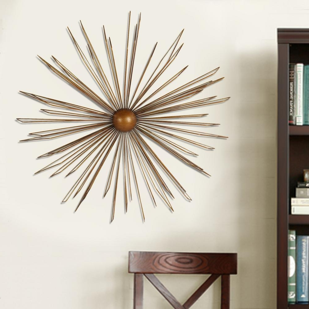 Gold Wall Accents For Preferred 36 In. X 36 In. Modern Starburst Metal Wall Decor Dn0012 – The (Gallery 10 of 15)
