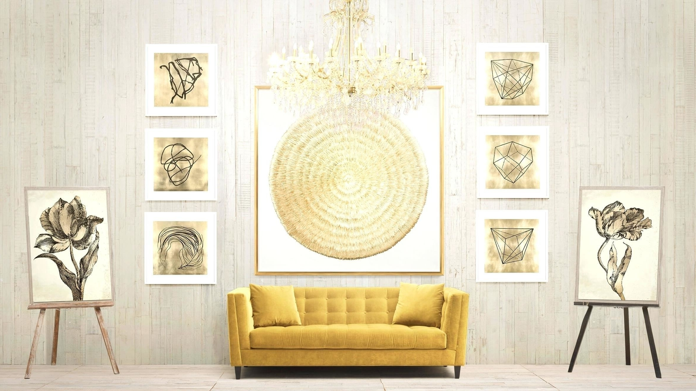 Awesome Gold Wall Decor Ideas - The Wall Art Decorations ...