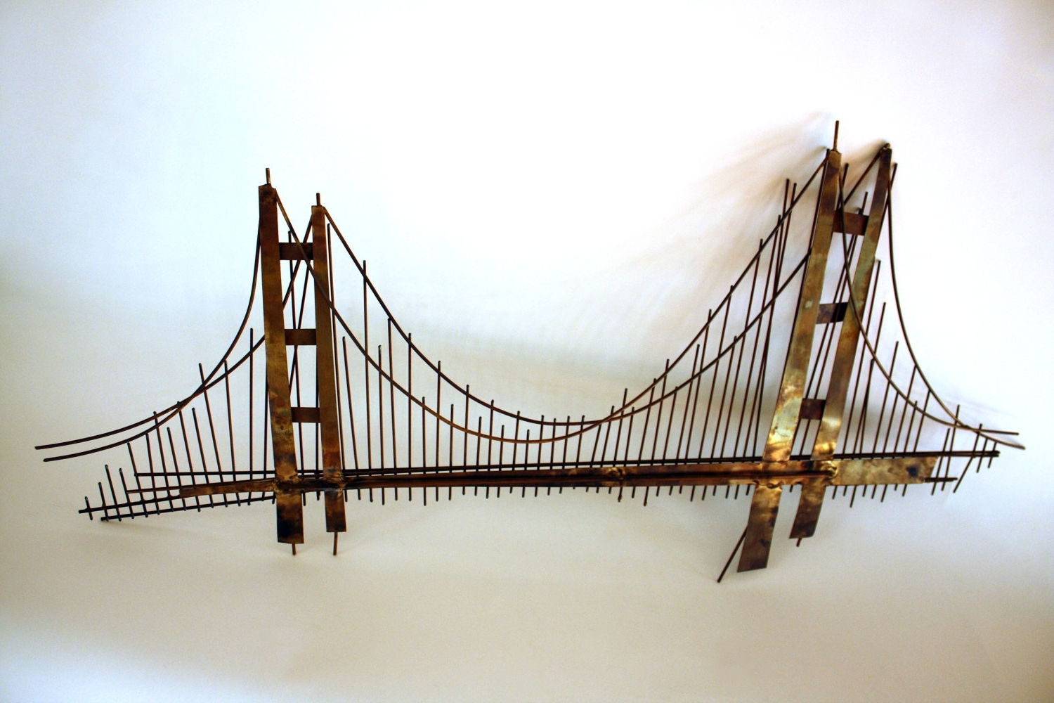 Golden Gate Bridge Canvas Wall Art Throughout Widely Used Wall Art Decor: 3 Dimension Hanging Golden Gate Bridge Wall Art (View 12 of 15)