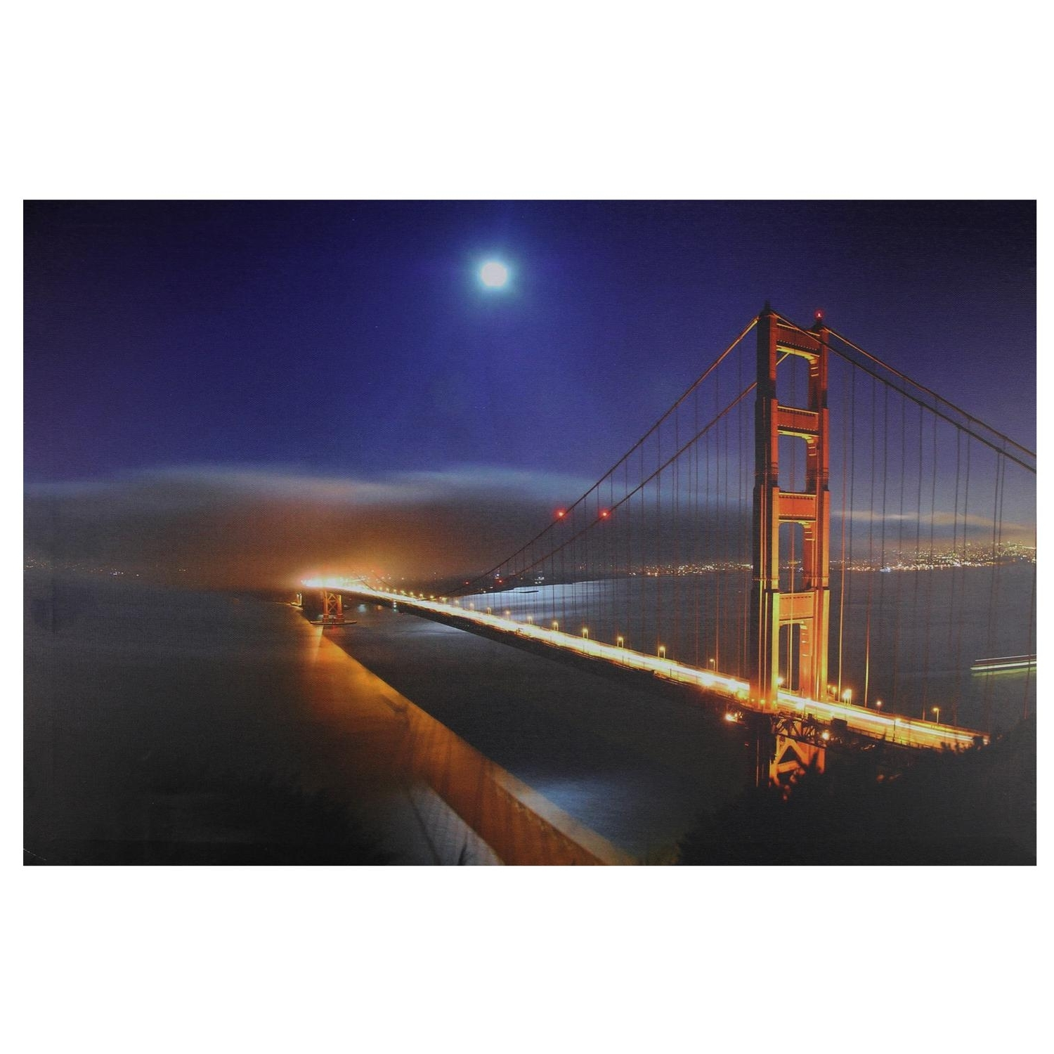 Golden Gate Bridge Canvas Wall Art With Well Known Led Lighted Famous San Francisco Golden Gate Bridge Canvas Wall (View 6 of 15)