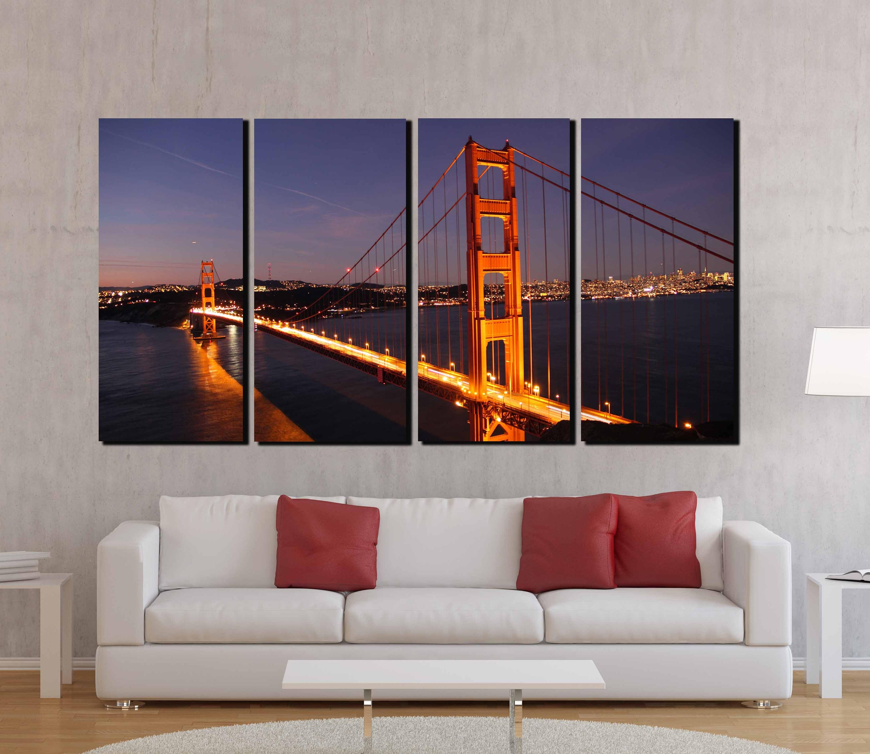Golden Gate Bridge,golden Gate Wall Art,san Francisco Wall Art With Well Known Golden Gate Bridge Canvas Wall Art (View 3 of 15)