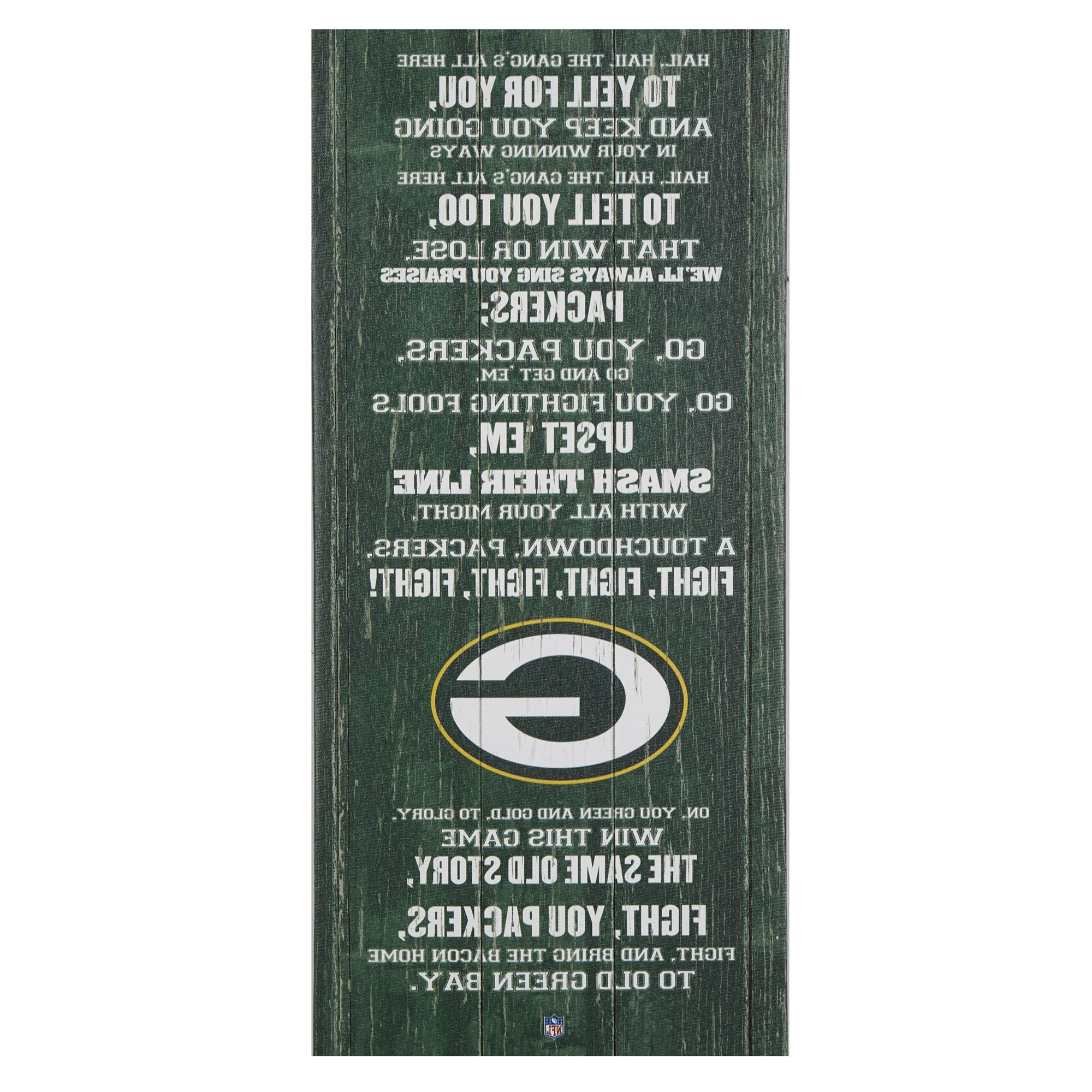 "Gordmans Canvas Wall Art With Well Known Green Bay Packers Fight Song Wall Decor, 26"" X 12"" – Gordmans (View 8 of 15)"