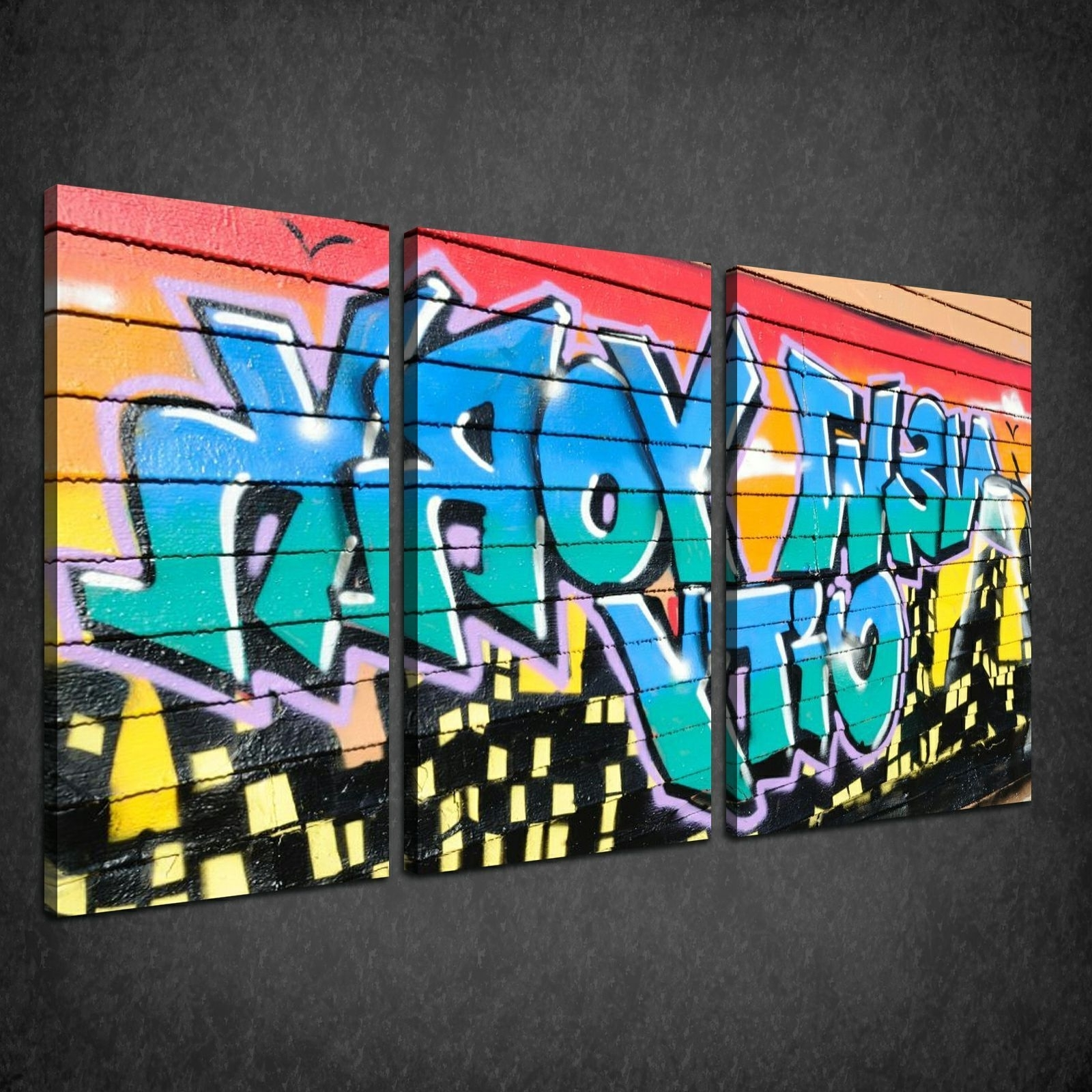 Graffiti Canvas Wall Art Inside Most Recent Canvas Print Pictures. High Quality, Handmade, Free Next Day Delivery. (Gallery 5 of 15)