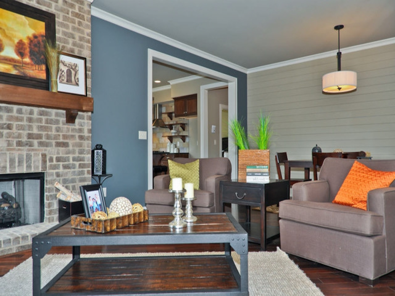 Gray Wall Accents Inside Current Living Room : Whiteing Rooms With Blue Accentsliving Room Accent (View 11 of 15)