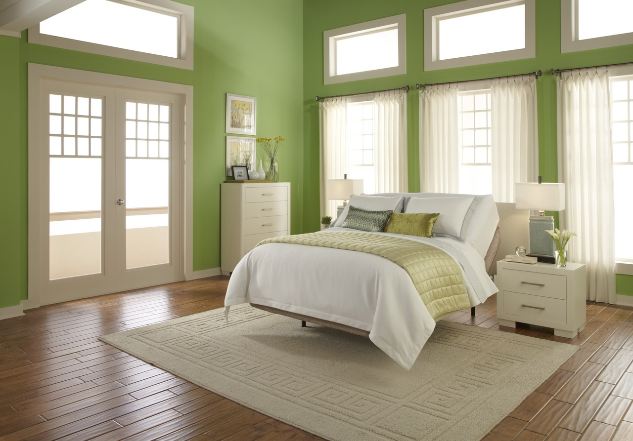 Green Wall Accents Intended For Recent Bedroom : Beauteous Small Green Bedroom Wall Decor Ideas With (Gallery 7 of 15)
