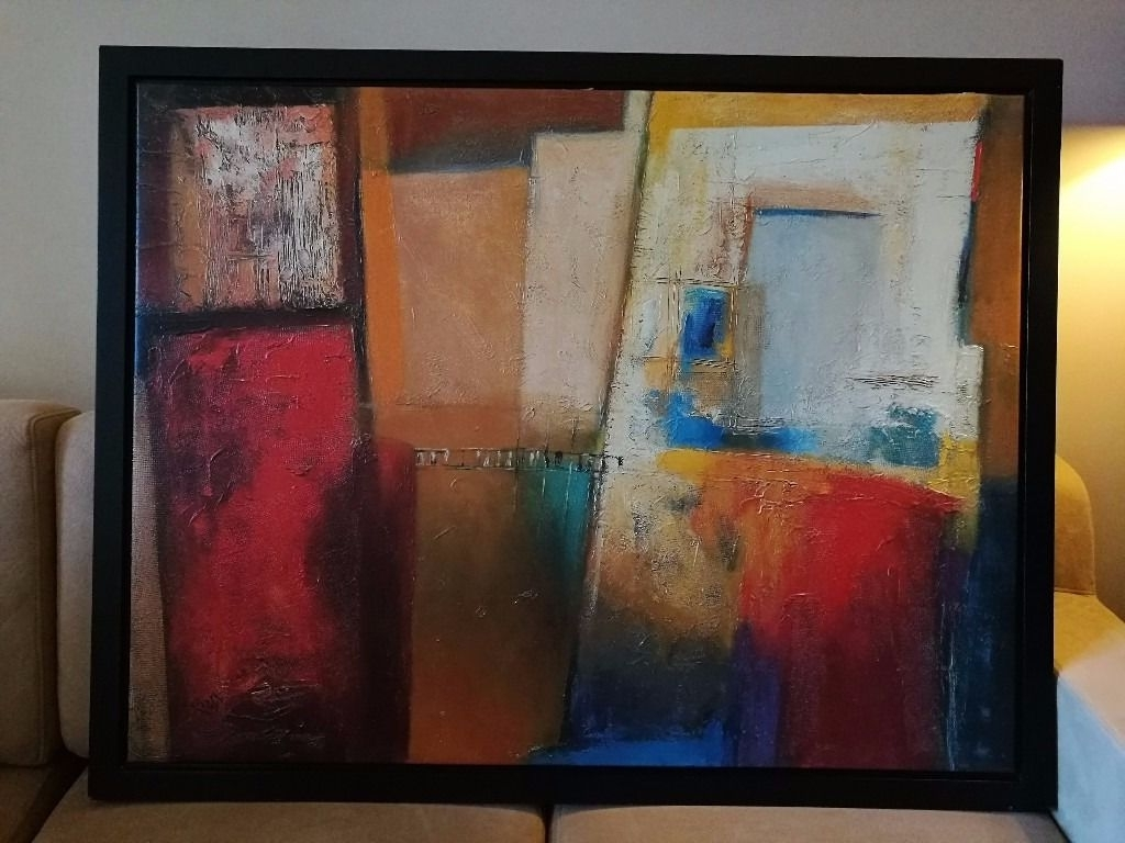 Gumtree Canvas Wall Art Pertaining To 2017 Patrizio Stylish Abstract Oil Painting On Canvas (Gallery 14 of 15)