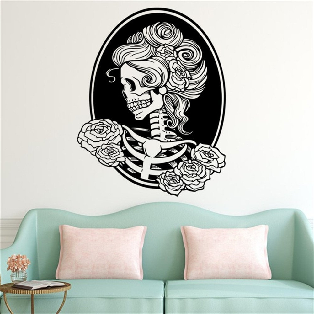 Halloween Led Canvas Wall Art Regarding Current Shining Design Halloween Wall Art Or Bibitime Skull Decal (View 6 of 15)