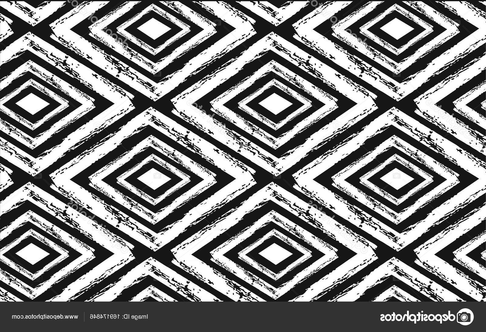 Hand Drawn Seamless Tribal Pattern In Black And Cream (View 14 of 15)