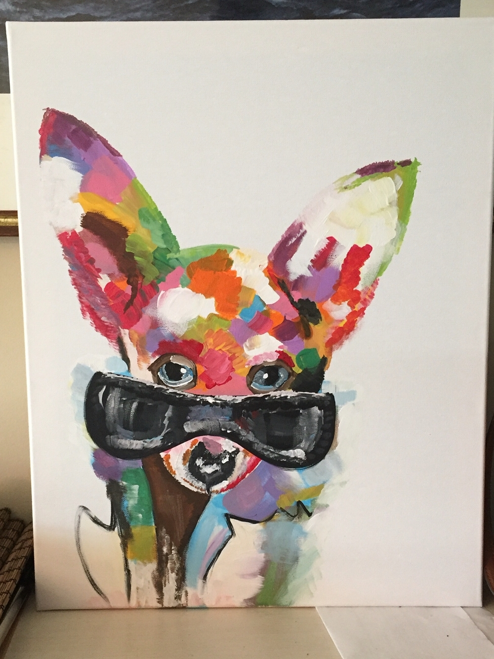 Hand Painted Chihuahua On Canvas. Pinterest Version. Original Is For Best And Newest Dogs Canvas Wall Art (Gallery 14 of 15)