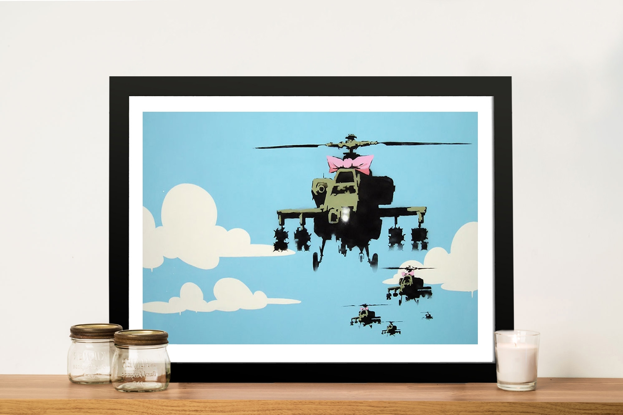 Happy Copters Banksy Artwork On Canvas Geelong Australia Within 2017 Geelong Canvas Wall Art (View 9 of 15)