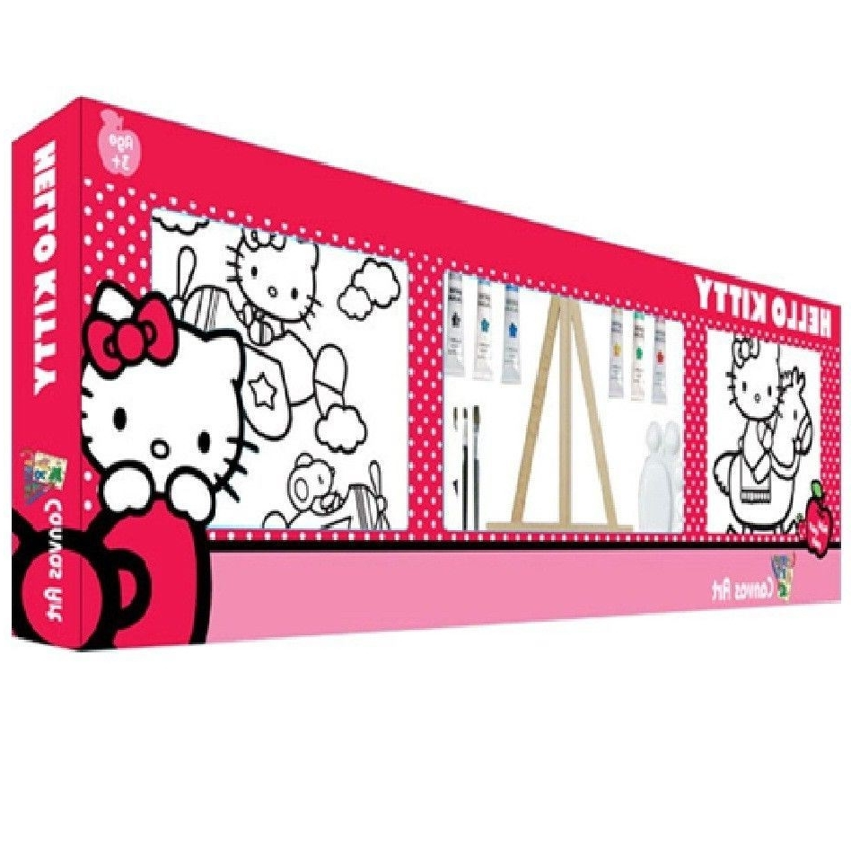 Hello Kitty Twin Paint Your Own Colour Canvas Wall Art Set 25X25 With Regard To Trendy  sc 1 st  Arts Accents Decals Murals Collections and More. & Photos of Hello Kitty Canvas Wall Art (Showing 8 of 15 Photos)