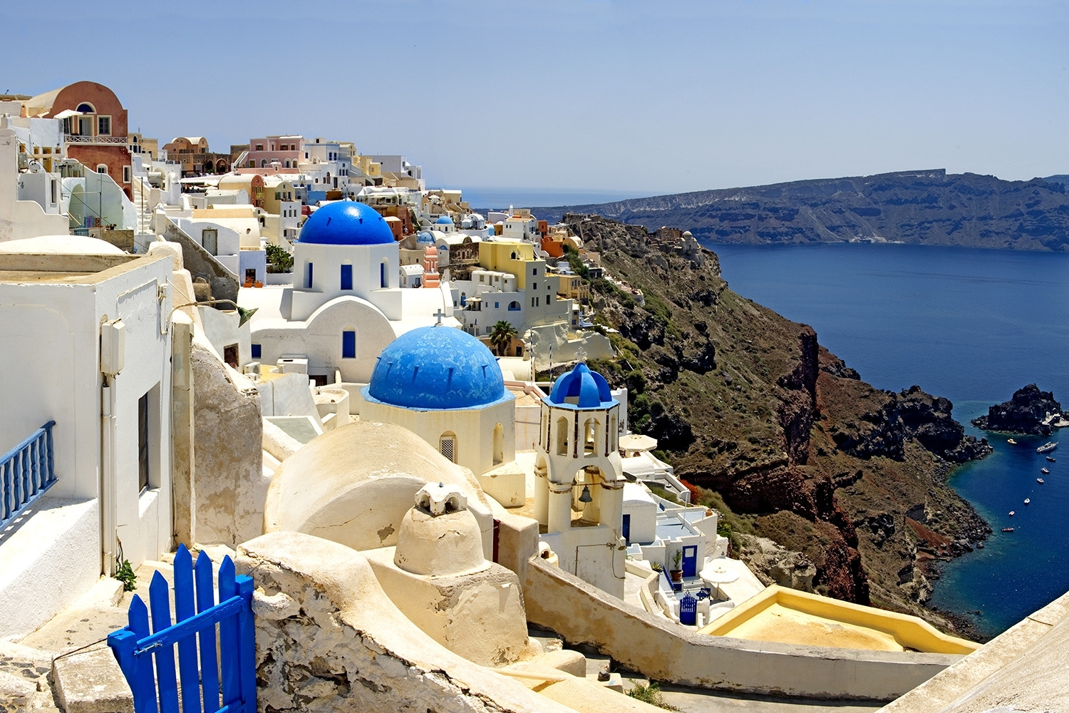 High Angle View Of A Church, Oia, Santorini, Cyclades Islands With Well Liked Greece Canvas Wall Art (View 10 of 15)
