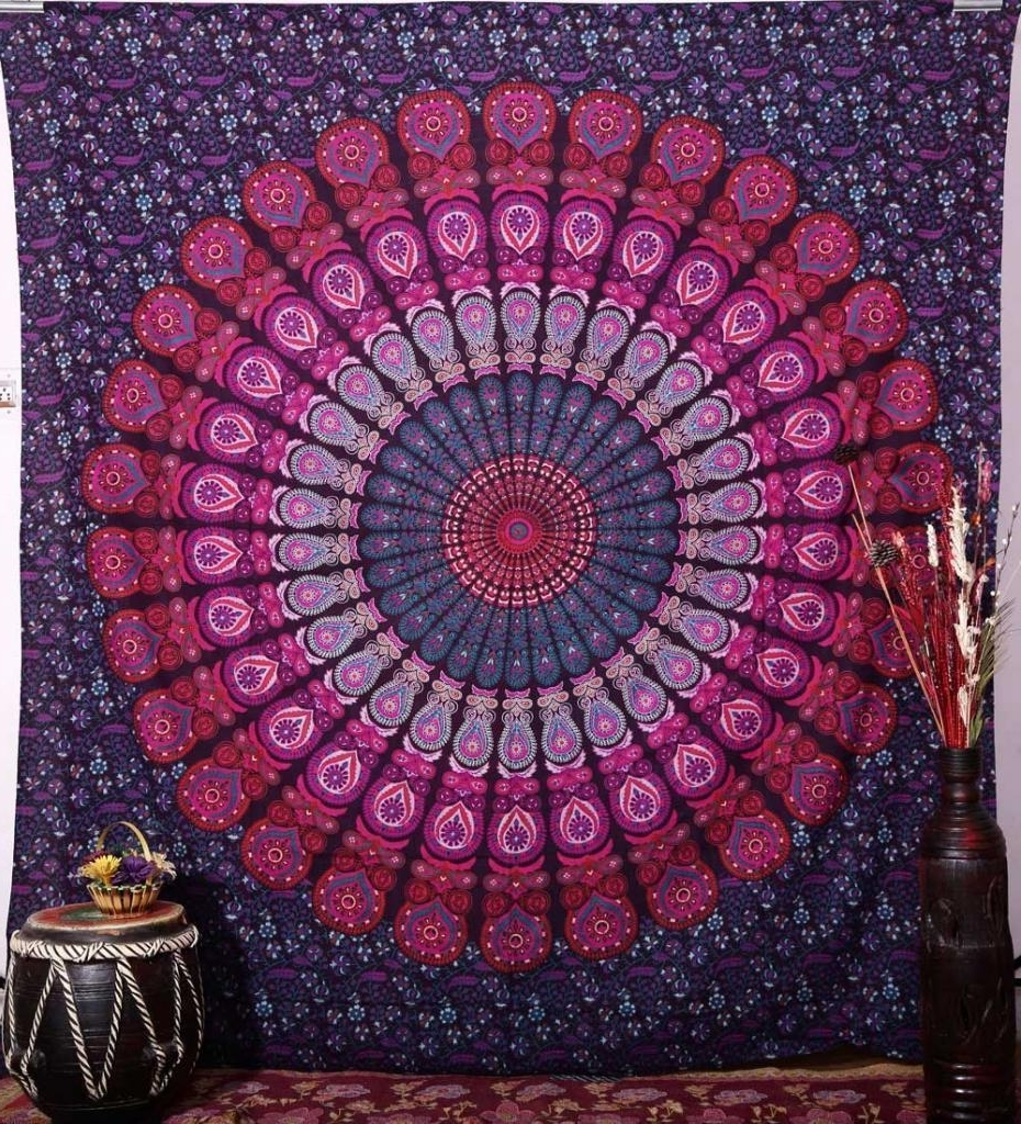 [%Hippie Mandala Tapestry 100% Cotton Hand Block Print Indian Wall With 2018 Indian Fabric Wall Art|Indian Fabric Wall Art Within Widely Used Hippie Mandala Tapestry 100% Cotton Hand Block Print Indian Wall|Well Known Indian Fabric Wall Art Within Hippie Mandala Tapestry 100% Cotton Hand Block Print Indian Wall|Fashionable Hippie Mandala Tapestry 100% Cotton Hand Block Print Indian Wall Regarding Indian Fabric Wall Art%] (View 1 of 15)