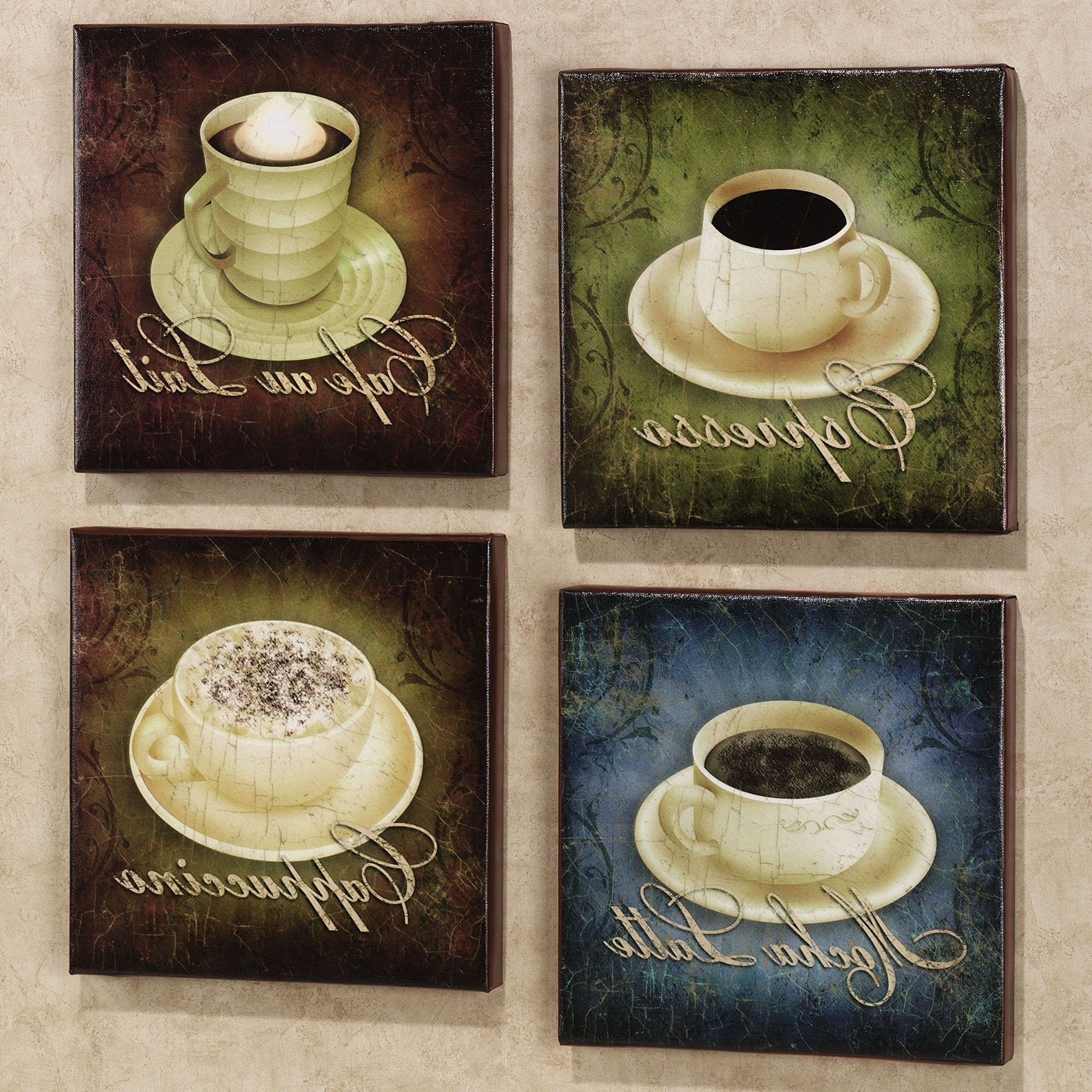 Home Coffee Canvas Set Set Of Four (Gallery 1 of 15)