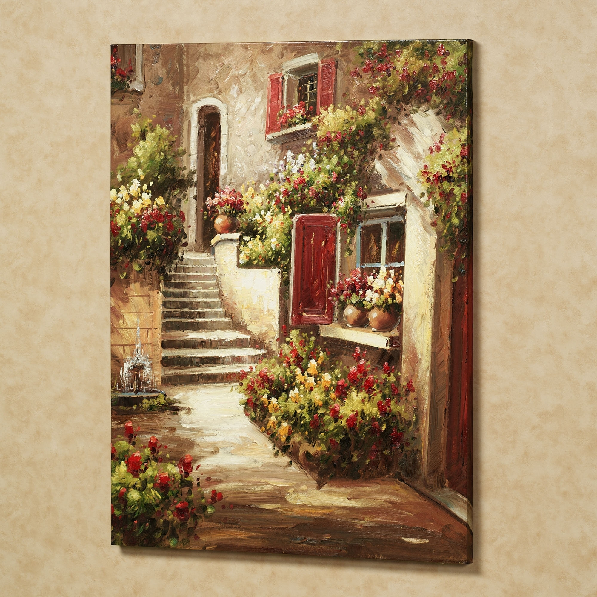 Home Tuscan Flowers Canvas Art Red (View 8 of 15)