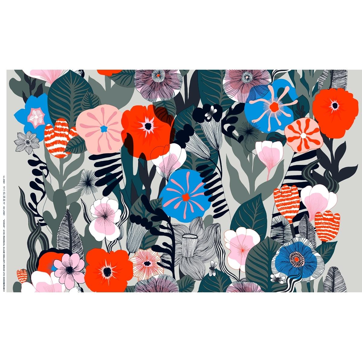 Home Within Marimekko 'karkuteilla' Fabric Wall Art (View 7 of 15)