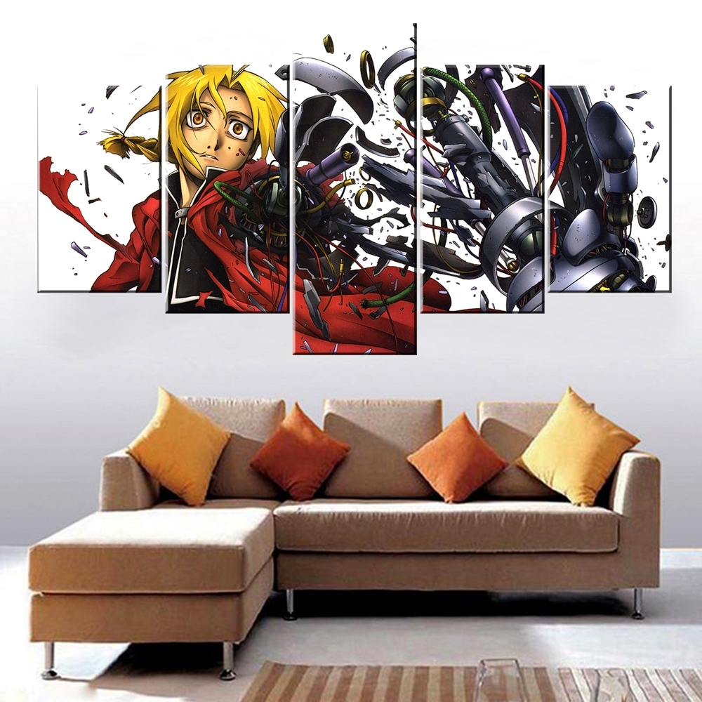 House Of Fraser Canvas Wall Art For Preferred Atfipan Modular Paintings On The Wall Animation Posters Fullmetal (View 6 of 15)