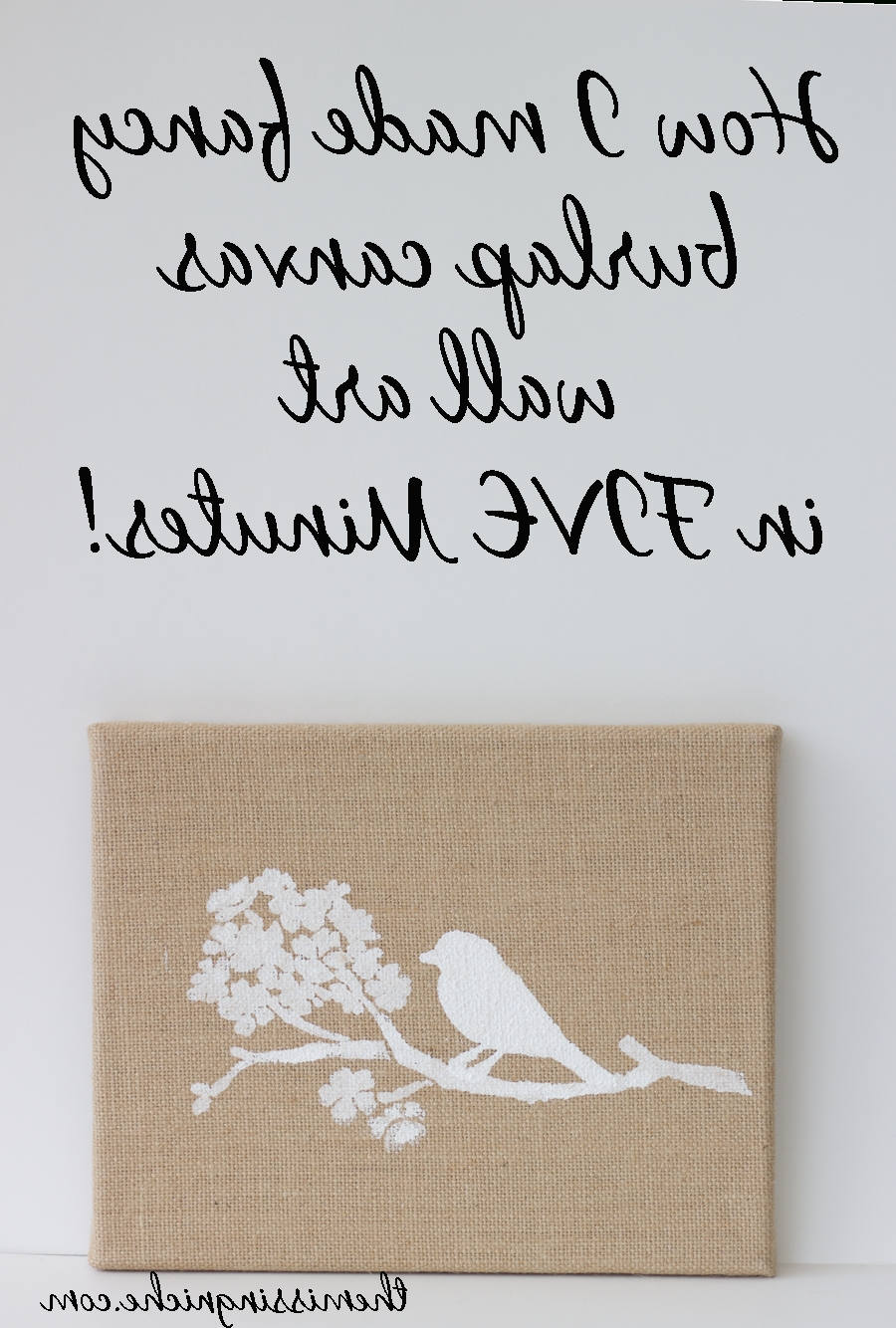 Featured Photo of Burlap Fabric Wall Art