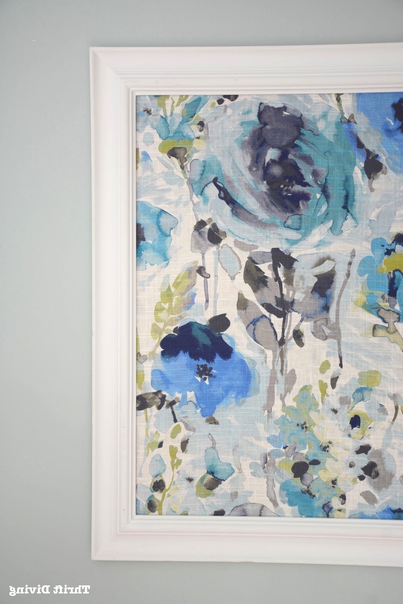 How To Frame Fabric For Wall Art With A Picture Frame Pertaining To Favorite Floral Fabric Wall Art (View 6 of 15)