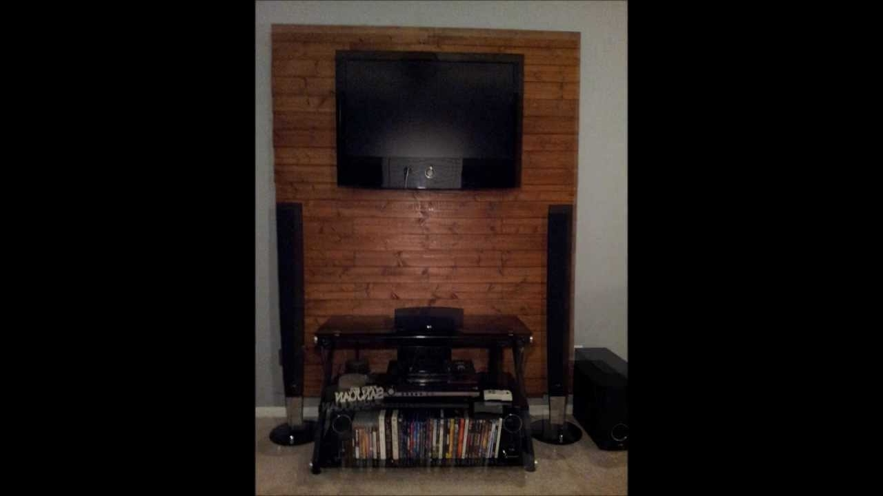 How To Make A Wooden Tv Accent Wall – Youtube Inside 2018 Wall Accents With Tv (View 5 of 15)