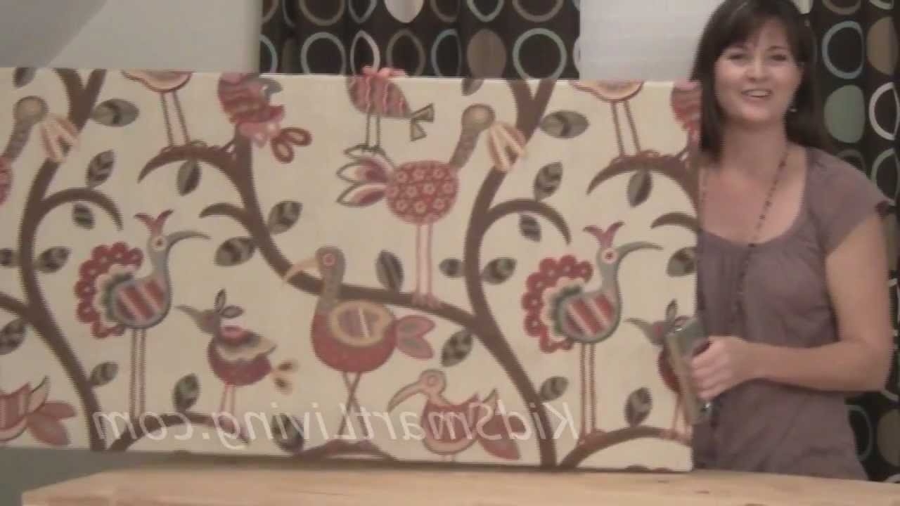 How To Make Fabric Wall Art Panels Home Decorating Diy Project For Trendy Large Fabric Wall Art (Gallery 2 of 15)