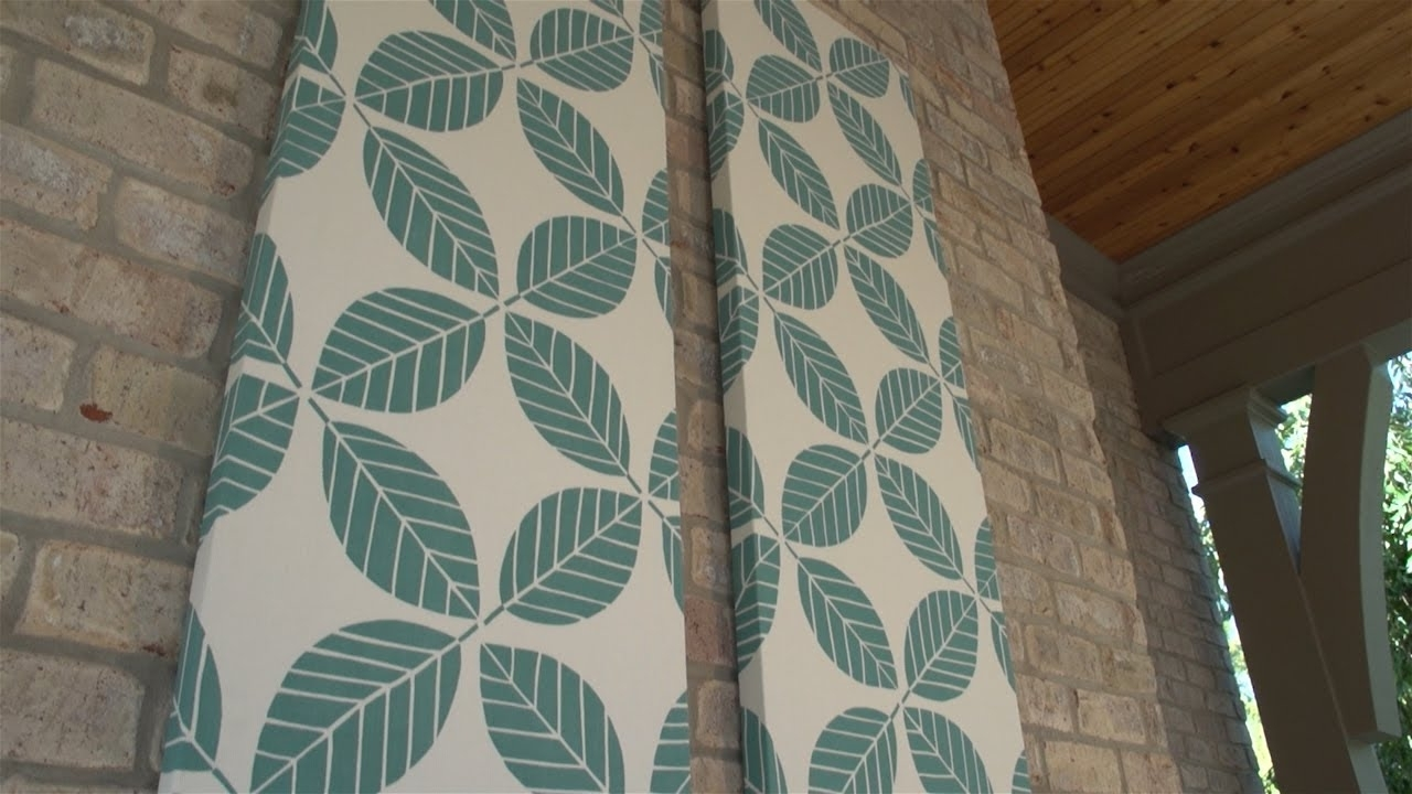 How To Make Outdoor Fabric Wall Art – Youtube Intended For Fashionable Diy Fabric Wall Art (Gallery 14 of 15)