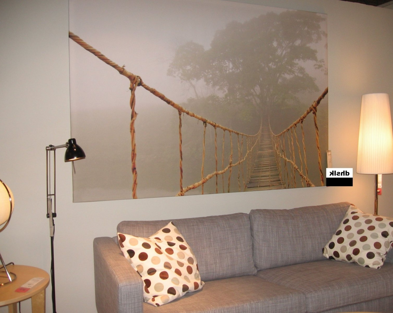 Ikea Canvas Wall Art Intended For Most Up To Date Ikea Premiar Jungle Journey Wall Art Print Huge Canvas Tree Bridge (Gallery 14 of 15)